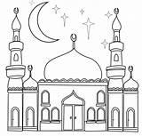 Coloring Ramadan sketch template
