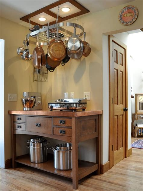 choose   rack  hanging pots  pans