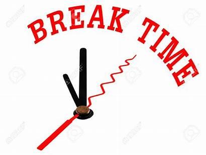 Break Word Clock Clip Clipart Icon Concept