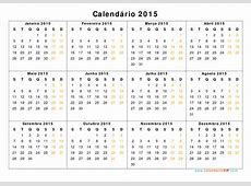 Calendário 2015 Calendarios 2015 para imprimir