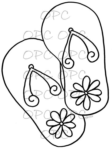 flip flops coloring pages 7 best images of free printable flip flop coloring pages