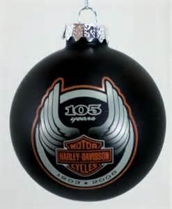 2008 105th anniversary harley davidson bulb christmas ornament new