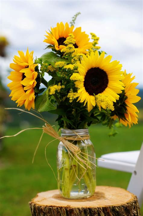 natural vineyard wedding  sunflowers discover