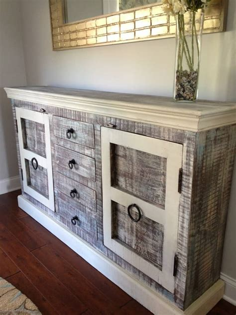 rustic buffet   top furniture makeovers