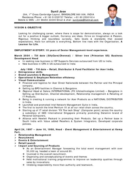 Resume Format For Teaching In India Pdf by Exles Of Resumes Air Hostess Resume For 89