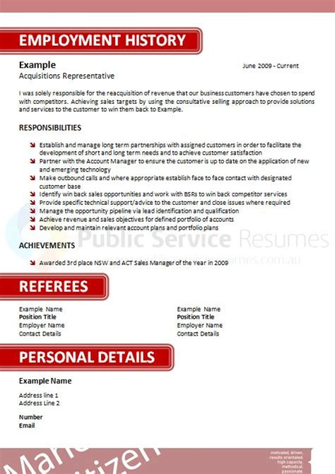How To Tailor Resume For Government by Service Resume 044 187 Service Resumes Government Application Specialists
