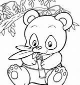 Panda Coloring Bear Pages Cute Printable Getcolorings Getdrawings sketch template