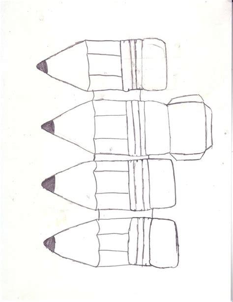 pencil template pencil foldable template by littleblueninja on deviantart