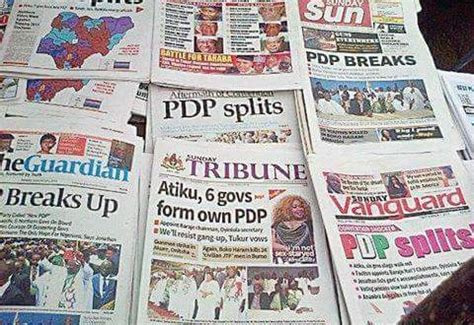 Nigerian Newspapers: 10 Things You Need To Know This ...