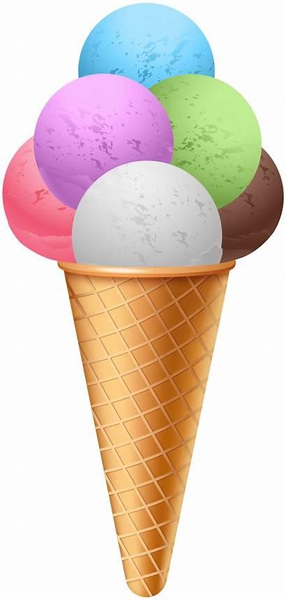 Cone Ice Cream Clipart Gelato Transparent Clip