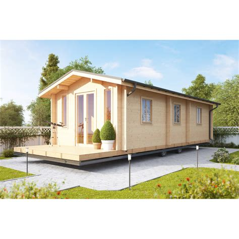 Two Bedroom Mobile Homes by Two Bedroom Wooden Static Caravan Log Mobile Home On Onbuy