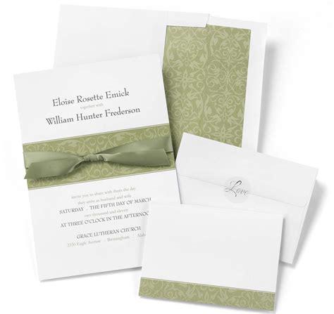 olive band diy wedding invitation kits diy wedding