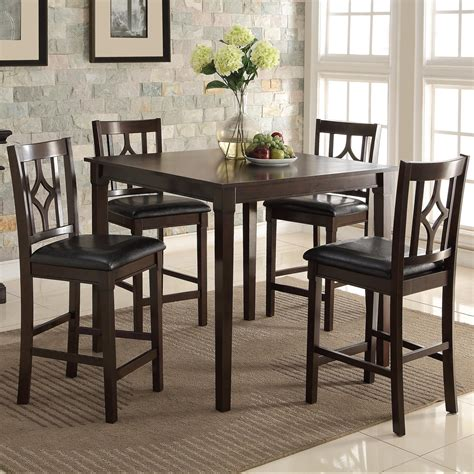 Bar height dining room table sets