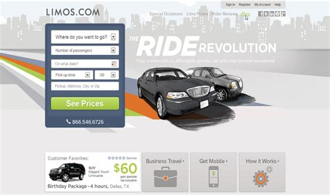 National Limo Service by E Commerce Solutions Web Site Projects New York Web