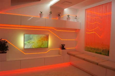 lumi鑽e cuisine led idées d éclairage indirect mural dans les intérieurs modernes