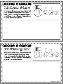 counting coins hairy money freebie  primary paradise tpt
