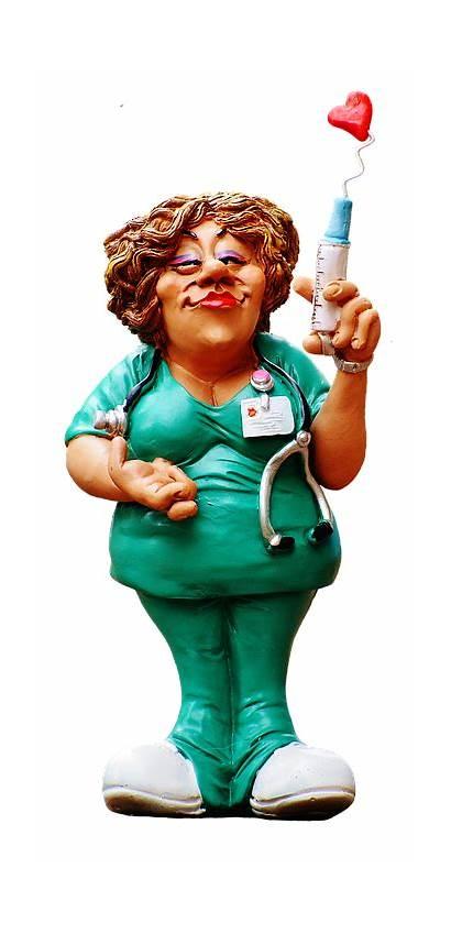 Funny Krankenschwester Figur Nurse Lustig Figurer Sjove