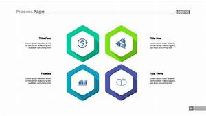 Four Hexagon Infographics  Template For Cycle Diagram