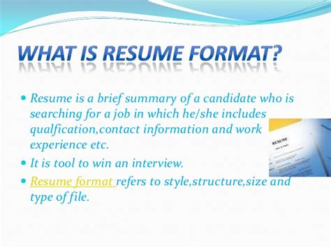What Type Of Folder To Use For Resume by Types Of Resume Format