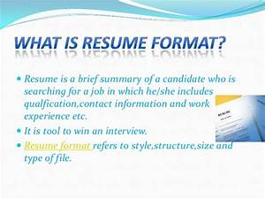 types of resume format With what kind of folder to put resume in