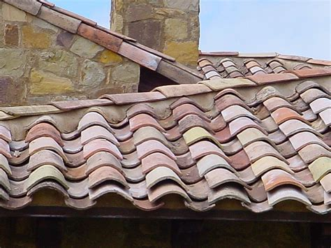 antique terra cotta roof tiles from circa 1820 from