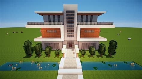 Modernes Haus Minecraft Jannis Gerzen by Minecraft Gro 223 Es Modernes Haus Bauen Tutorial Haus 110