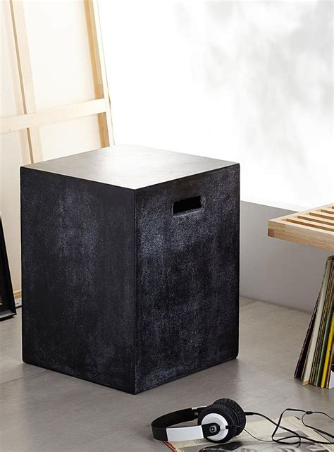 It is perfect for that spot of morning sunshine that beams. Concrete cube end table | End tables, Versatile table ...