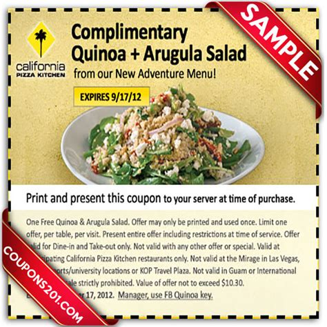 california pizza kitchen coupons california pizza kitchen printable december 2016