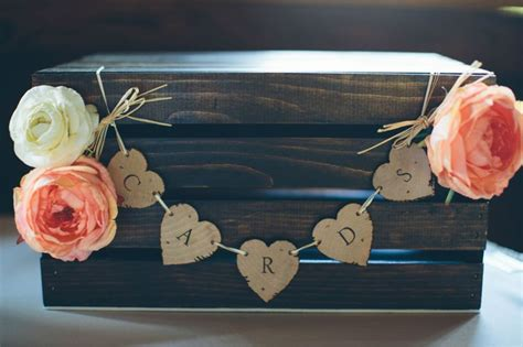 our wedding card box diy wood burned espresso
