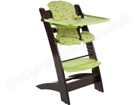 chaise berceuse pour bebe chaise haute 233 volutive badabulle b010005 wenge anis coussin offert pas cher ubaldi