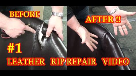 Repair In Leather by Leather Rip Repair 1 Fixyourleather