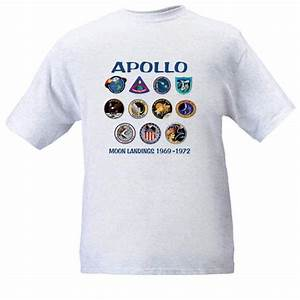 NASA Apollo Moon Landings T-Shirts Mission Insignia Size XL