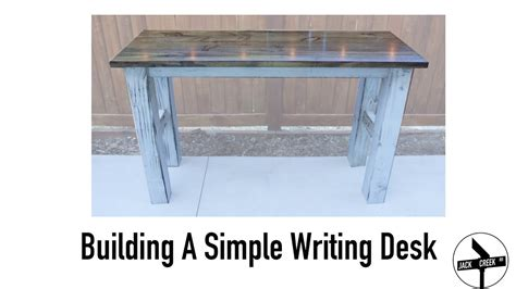 build  simple desk  limited tools youtube