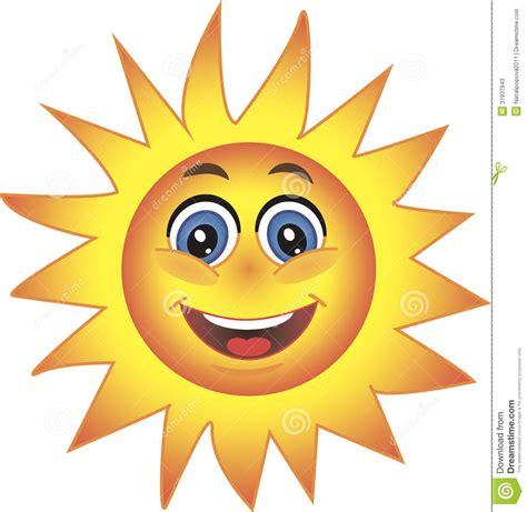 sun smiley symbol stock  image