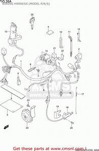 Suzuki Dr250se 1995  S  Usa  E03  Wiring Harness  Model P  R  S