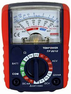 Tekpower Small Size Analog Multimeter With Battery Tester