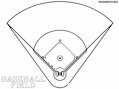 Baseball Field Coloring Pages Colorings