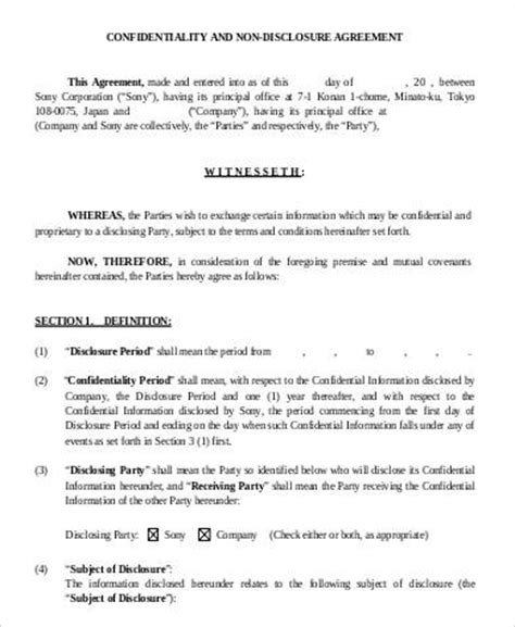 disclosure confidentiality agreement  main group