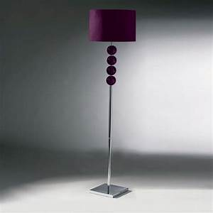 purple floor lamps lighting and ceiling fans With 5 light floor lamp purple