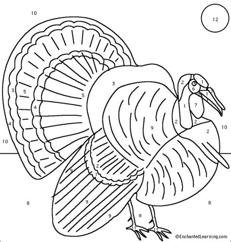 how to color a turkey coloring squares multiplication thanksgiving turkey