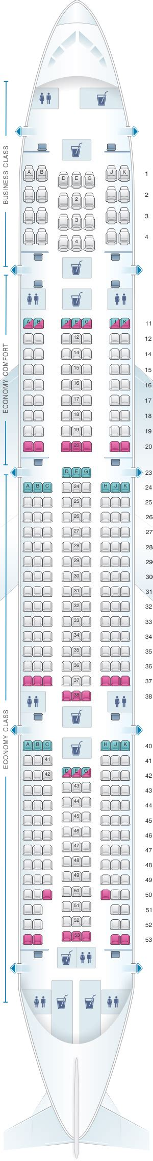 plan si鑒es boeing 777 300er air seat map airlines boeing b777 300er seatmaestro com