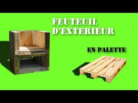 chaise longue en palette bois fauteuil d 39 extérieur en bois de palette