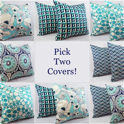 navy and teal throw pillows your own navy and teal pillow covers from 7077