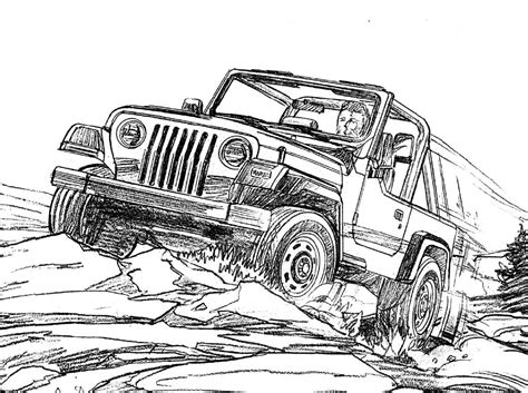 jeep wrangler coloring page   kids jeep