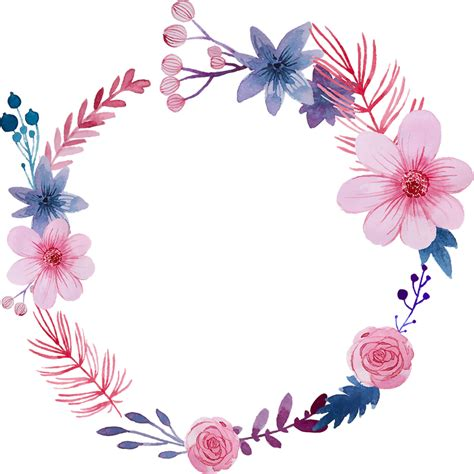 Arco Flores Png Corona De Flores Png Acuarela Clipart