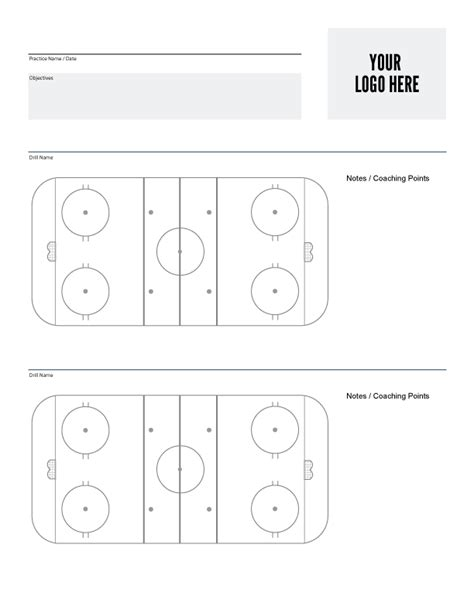 hockey practice plan template hockey coaching tools and resources hockey systems inc