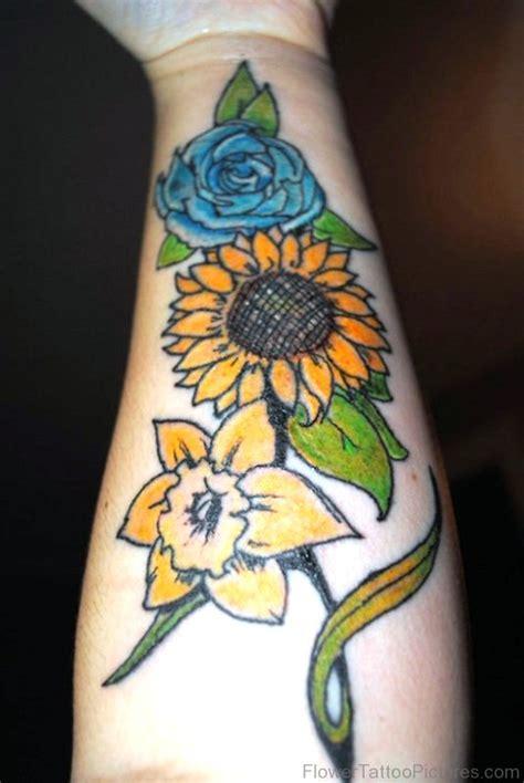 dazzling daffodil flower tattoos