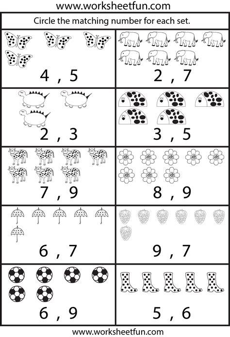 Counting Worksheets  5 Worksheets  Free Printable Worksheets Worksheetfun