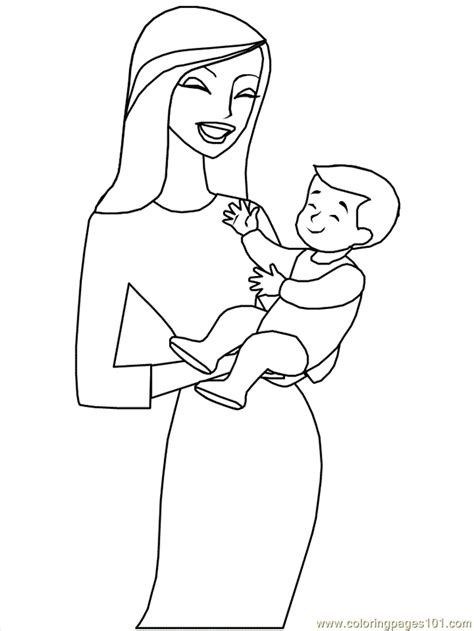 mother coloring page getcoloringpagescom