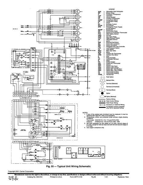 Fig Typical Unit Wiring Schematic Carrier Tfe
